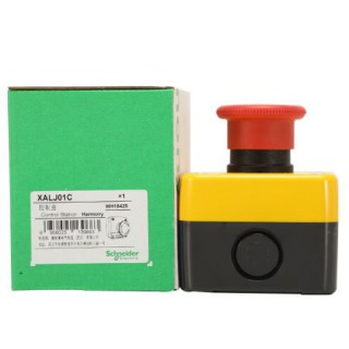 XALJ01C1施耐德急停按钮盒急停开关防水盒常闭旋转复位IP65原装正品